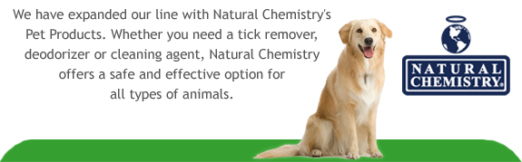 We Now Offer Pet Products by Natural Chemistry - All Natural and Safe For Your Animals